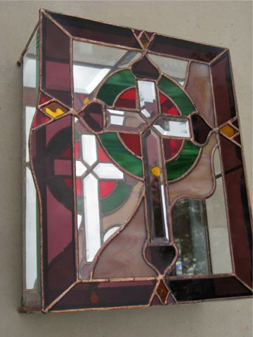 Stained Glass Book Case